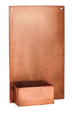 Look at this Rectangular Copper Wall Planter on today! Wall Mounted Planters, Metal Wall Planters, Outdoor Planters, Outdoor Walls, Contemporary Planters, Rectangular Planters, Evergreen Enterprises, Copper Wall, Brown Walls