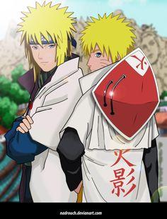 Minato and Naruto fan art | minato and hokage naruto by ~nadrouch on deviantART