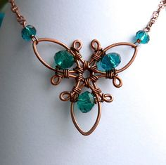 wire wrapped trifoil necklace by dArgent