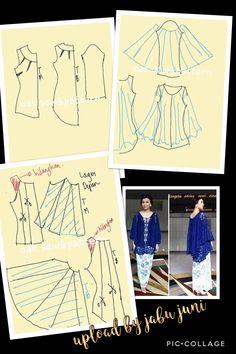 Blue kebaya Dress Sewing Patterns, Blouse Patterns, Doll Clothes Patterns, Clothing Patterns, Jacket Pattern, Top Pattern, Kebaya Simple, Caribbean Carnival Costumes, Model Kebaya Modern