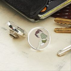 Nori Makino - Original Character Lapel Pin - girl gifts special unique diy gift idea