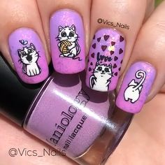 40 Unique Nail Ideas to Elevate your Look Nail Art Inspiration Girls Nail Designs, Nail Art Designs Videos, Classy Nail Designs, Nail Art Videos, Diy Nail Designs, Pink Nail Art, Cute Nail Art, Purple Nails, Cute Nails