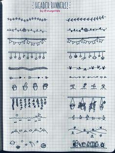 Fun doodles for planner/journal