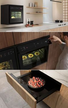 This flex oven combines several appliances into one, which can make crispy roasts, crumbly croissants and even softly cook vegetables. The BORA X BO promises impeccable cooking results thanks to its gentle, uniform steam production. It cooks your food evenly while eradicating odor. Featuring no levers, buttons or gimmicks, this flex oven only has professional-standard functions, including self-cleaning and automatic steam extraction. Smart Home Appliances, Best Espresso Machine, Roasts, Trendy Home, Croissants, Multifunctional, Oven, Buttons, Cleaning