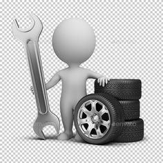 Small People - Car Mechanic small person stands next to the wheels and holding a wrench. Created: GraphicsFilesIncluded: PhotoshopPSD HighResolution: No Layered: Yes MinimumAdobeCSVersion: CS Tags: Classic Mini, Classic Cars, Car Wash Posters, Best Cars For Women, Car Fix, Car Hacks, Cool Logo, Cool Cars, 3 D