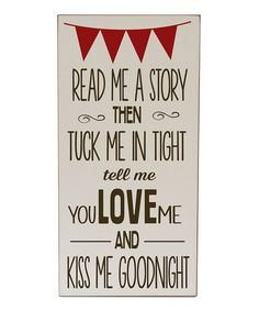Take a look at this Cream & Brown 'Read Me A Story' Wall Art by Vinyl Crafts on #zulily today!