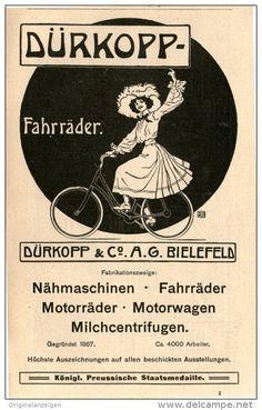 Original-Werbung/Inserat/ Anzeige 1907 - DÜRKOPP FAHRRÄDER - ca. 90 X 160 mm