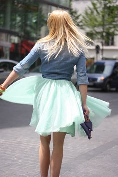 MY LITTLE FASHION DIARY: DENIM AND TULLE
