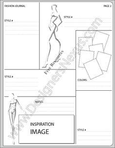 V14 Fashion Presentation Layouts Template - FREE high-quality download for fashion portfolio layout or fashion sketchbook #fashionportfolio #fashiondesign #fashionsketchbook