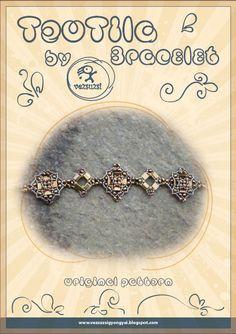 Bracelet tutorial / pattern TeoTila by beadsbyvezsuzsi on Etsy