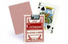 Cartes Grimaud Poker 516 (rouge) - Pokeo.fr - Jeu de 54 cartes de poker Grimaud Poker 516 en carton plastifié, au format poker index regular, dos rouge.