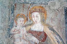 La Madonna degli affreschi scoperti in S. Biagio