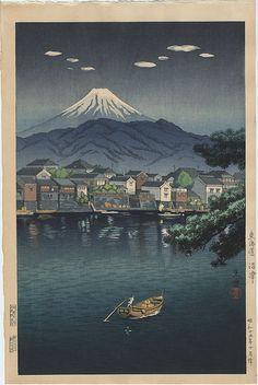 """""""Tokaido, Numazu Harbor"""" by Koitsu, Tsuchiya"""