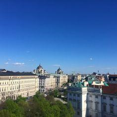Beautiful hotel rooftop views in Vienna
