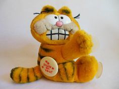 GARFIELD * Plush Garfield Toy * Garfield Toy with Tags * Stuck on You *1981