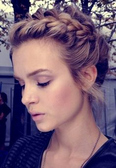 updo hairstyle.@Kristen - Storefront Life - Storefront Life Schram I want you to try this in my hair one day...