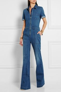 Stella McCartney | Stretch-denim jumpsuit | NET-A-PORTER.COM