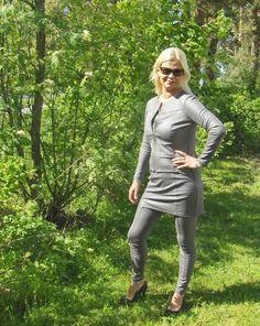 Tekstiilinahkainen  jakku Harmaa