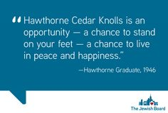 1940's #TBT: Our Hawthorne campus integrates education, group living & treatment for a full therapeutic experience. Here is what one graduate had to say about the results.
