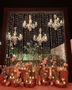 There's nothing more bewitching than a glimmering backdrop done with fairy lights & bulbs along with some flowery adornments, especially for a night event. wedding stage Creative & Peppy Wedding Backdrop Ideas You're Sure to Love!