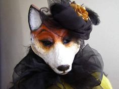 Masquerade mask Fox mask Animal mask Fox costume by EpicFantasy