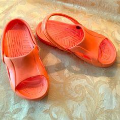 Orange Crocs Orange crocs- worn once! Excellent condition. crocs Shoes