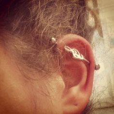 Tremble Earcuff Earring Love Music Industrial Piercing