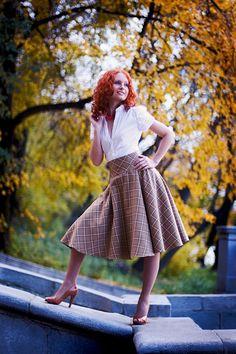 TK-Vestiario - осенняя коллекция, пышные юбки в клетку в стиле 50-х годов  skirt new look