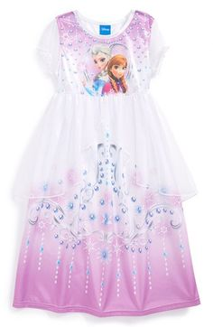 Free shipping and returns on DISNEY 'Frozen™' Fantasy Nightgown (Toddler Girls) at Nordstrom.com. Your little princess will look forward to bedtime in this adorable dress-up nightgown that features a sheer split-front overlay for a regal finish.