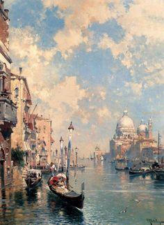 Franz Richard Unterberger (1838-1902) - The Grand Canal, Venice