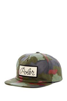 WeSC Men/'s Burnt Olive Camo Logo Snapback Hat