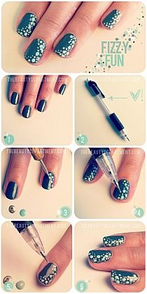 Have a look at some DIY nail art, DIY nail designs and DIY nail art ideas that you may consider taking into account. Take a look at the diy nail art step by step and if you love to experiment with your nails, you can try these nail art. Nail Art Diy, Easy Nail Art, Cool Nail Art, Diy Nails, Cute Nails, Pretty Nails, Teal Nails, Black Nails, Do It Yourself Nails