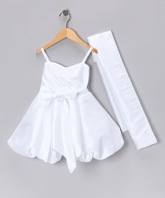 Take a look at this White Bubble Dress & Shawl - Toddler & Girls by Tip Top Kids on #zulily today!