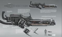 ArtStation - Gun Design - Chemical Jet Gun, Amy Cornelson