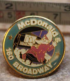 McDonalds New York 160 Broadway Make It Mac Tonight Collectible Pinback Pin #McDonalds