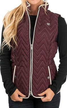 "Ladies Ariat vest 10020607   ""ashley vest""  sizes: s,m,l,xl.  $59.95"