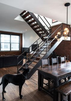 Industrial style stairs