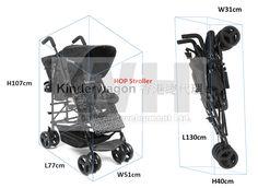 Hop Size  Kinderwagon just make outing enjoyable!   美國Kinderwagon香港總代理 www.kinderwagon.com.hk  Kinderwagon HOP 雙人外出嬰兒車 (Double Stroller)