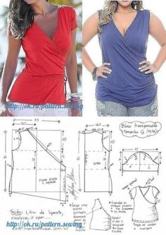 Tremendous Sewing Make Your Own Clothes Ideas. Prodigious Sewing Make Your Own Clothes Ideas. Blouse Patterns, Clothing Patterns, Blouse Designs, Blouse Styles, Skirt Patterns, Coat Patterns, Diy Summer Clothes, Diy Clothes, Costura Fashion