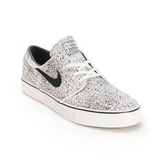 Nike SB Zoom Stefan Janoski PR Ivory & Black Speckle Skate Shoes