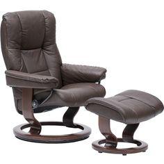 stressless medium mayfair chair and ottoman paloma chocolate
