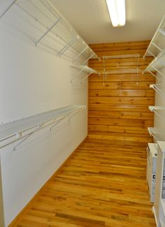 14-foot deep walk-in closet in the master bedroom of this 3/2 home for sale in Crawfordville, FL! Located on 64 acres of horse ranch - check out our blog for the Virtual Tour!