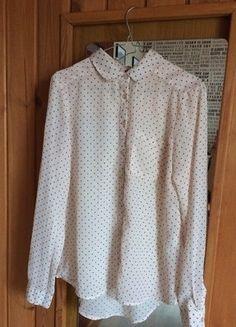 Kup mój przedmiot na #vintedpl http://www.vinted.pl/damska-odziez/koszule/16145939-pudrowa-koszula-w-kropki-rozmiar-m