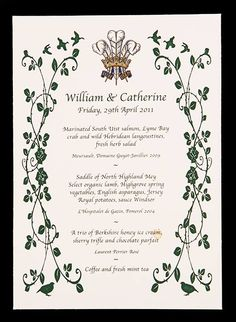 Prince William and Duchess Kate's wedding menu and rare royal memorabilia goes up for auction - Photo 7