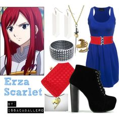 """""""Erza Scarlet - Fairy tail"""" by issacaballero on Polyvore"""
