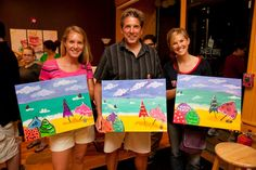 Umbrella Beach painting at The Paint Bar!