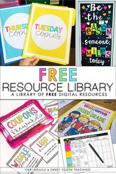 Discover a teacher resource library filled with FREE goodies just for YOU! Receive weekly downloadable worksheets, classroom management ideas, organizational tools, and engaging lessons sent straight to your inbox OR download them straight from the resource library! Perfect for any Elementary Teacher!