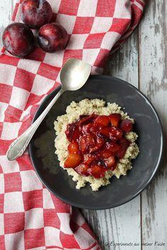 Experimente aus meiner Küche: Süßer Couscous mit Zimtpflaumen