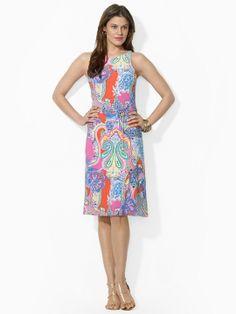 Sleeveless Paisley Dress - Short Dresses  Dresses - RalphLauren.com