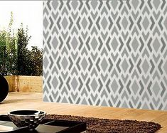 """This is the one for the porch """"rug""""  Geometric Pattern No. 1 Repeating Stencil  oliveleafstencils.com"""